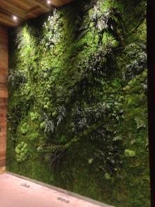 jardín vertical en Mègeve